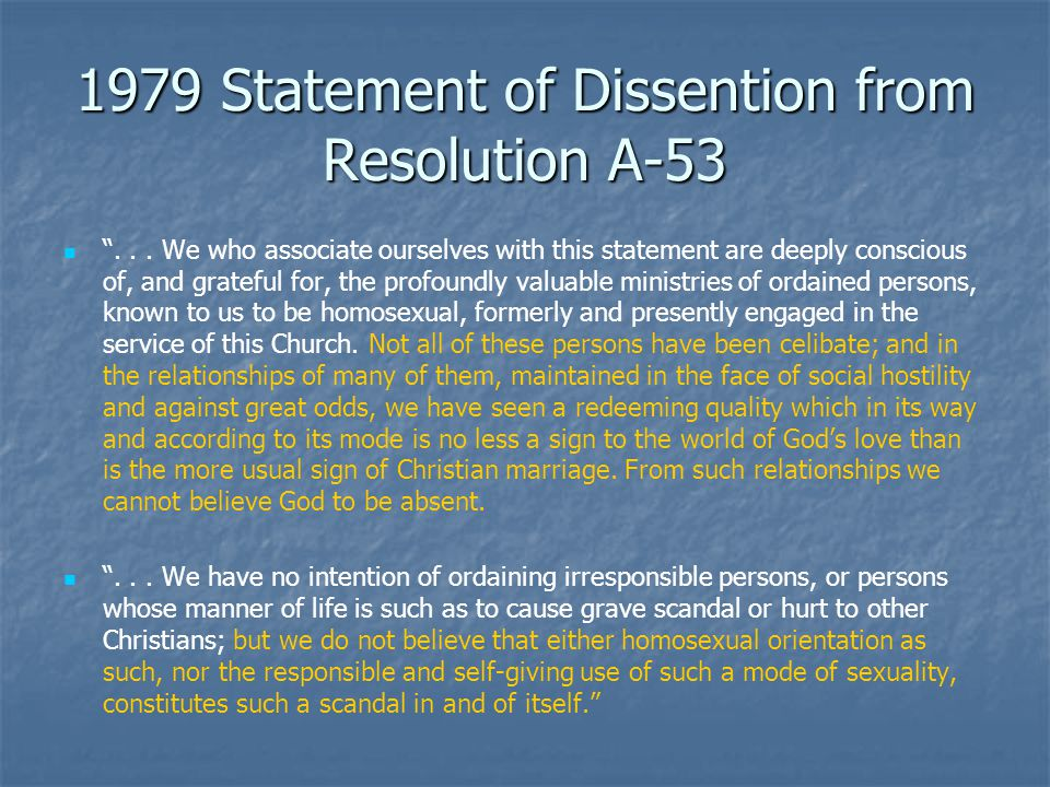 1979 Statement of Dissention from Resolution A-53 ...