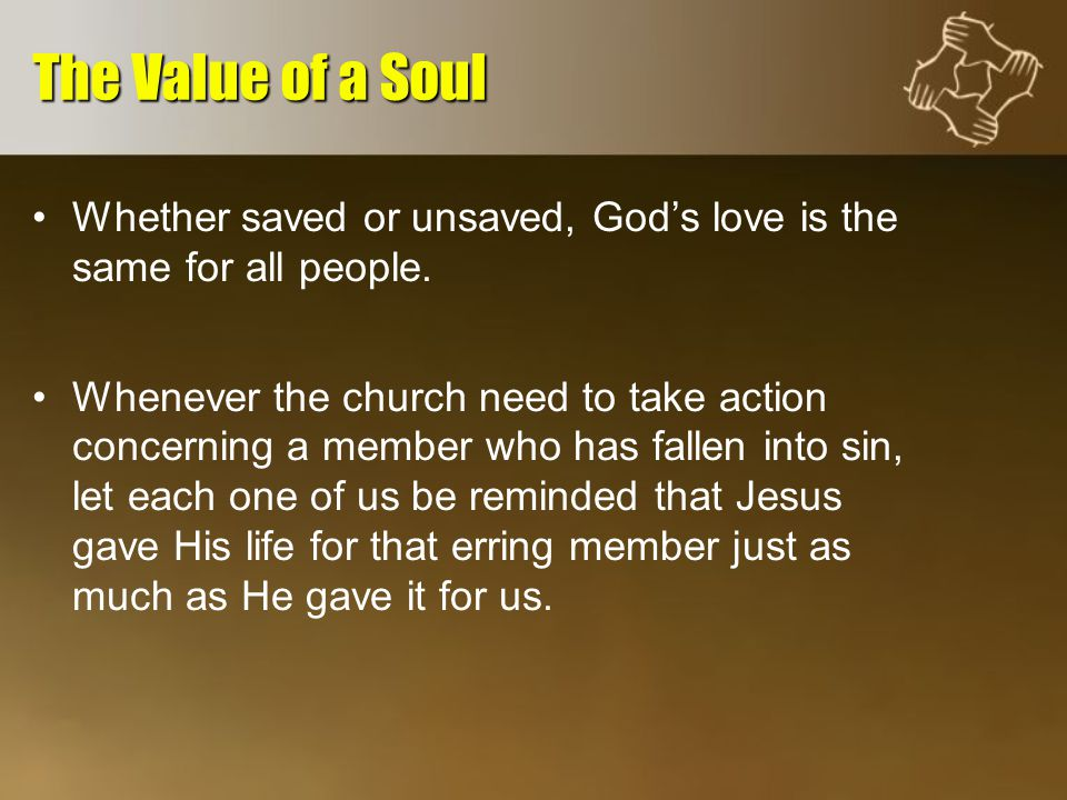 Whether saved or unsaved, God's love is the same for all people.