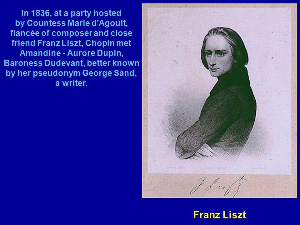 In 1838, his friend Eugène Delacroix painted this portrait.