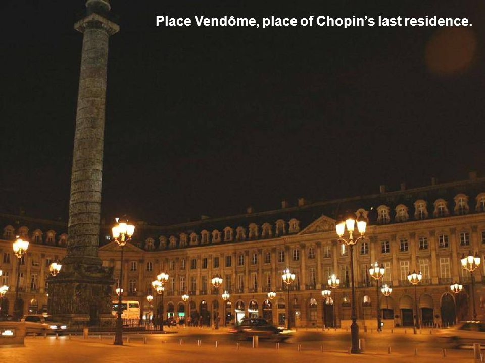 In his new apartment in Paris, Chopin composed on his last Pleyel.