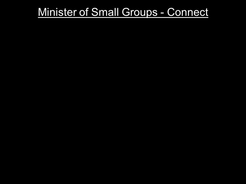 Minister of Small Groups - Connect