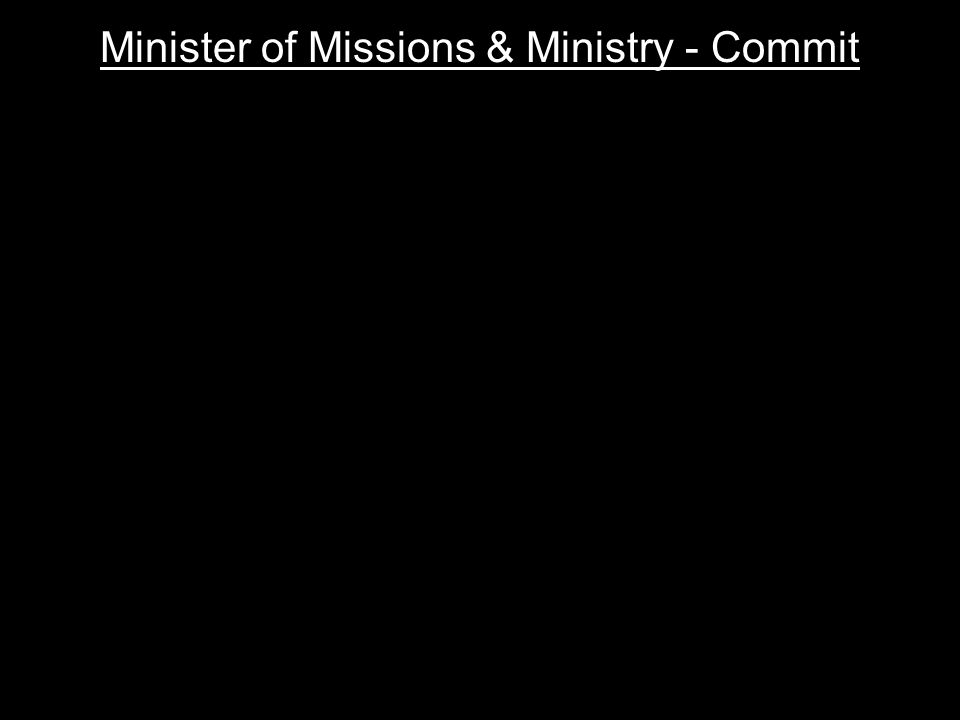 Minister of Missions & Ministry - Commit