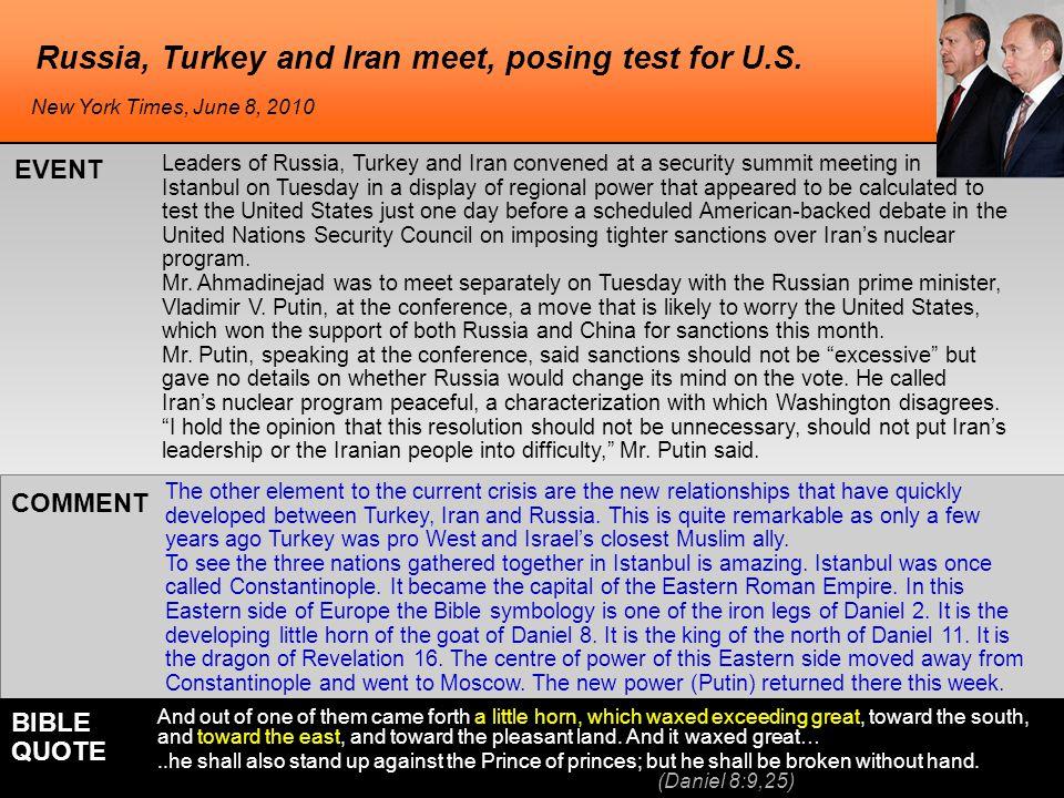 Russia, Turkey and Iran meet, posing test for U.S.