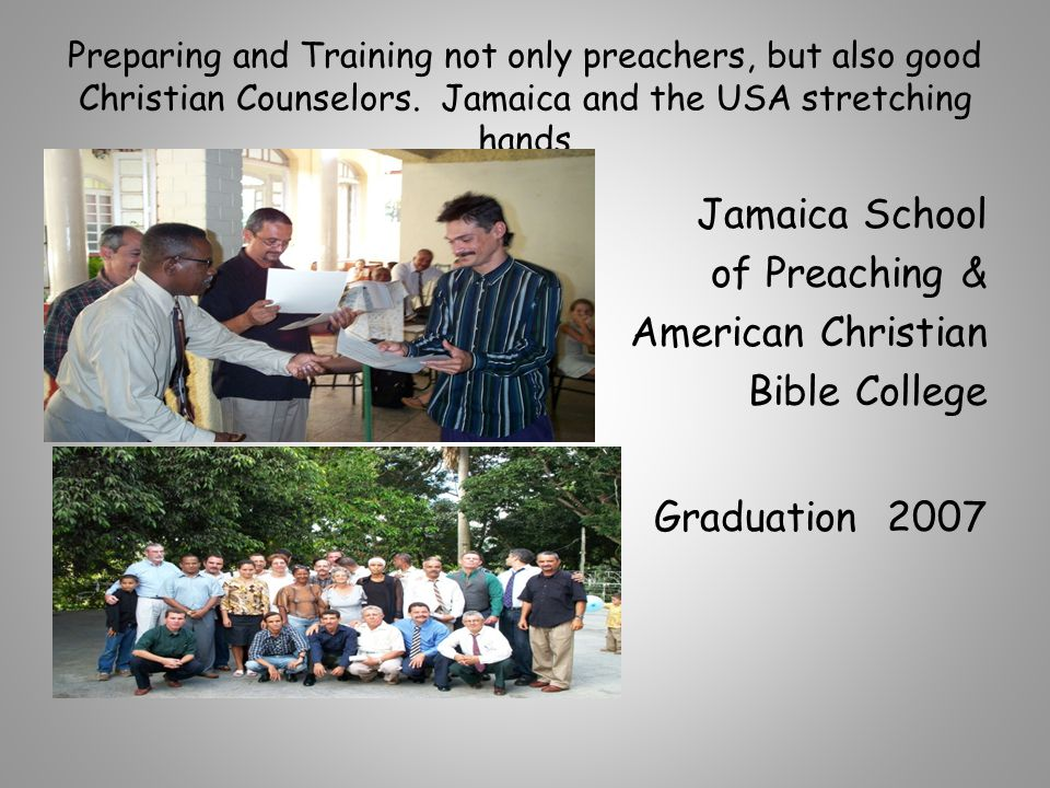 Preparing and Training not only preachers, but also good Christian Counselors.