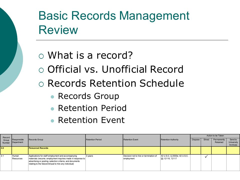 Helpful Tip! The methods we discussed today can be applied to electronic records too!