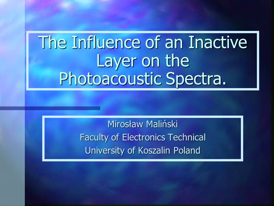 Introduction n There are two main measuring methods of the photoacoustic or photothermal spectra: the microphone and piezoelectric methods.