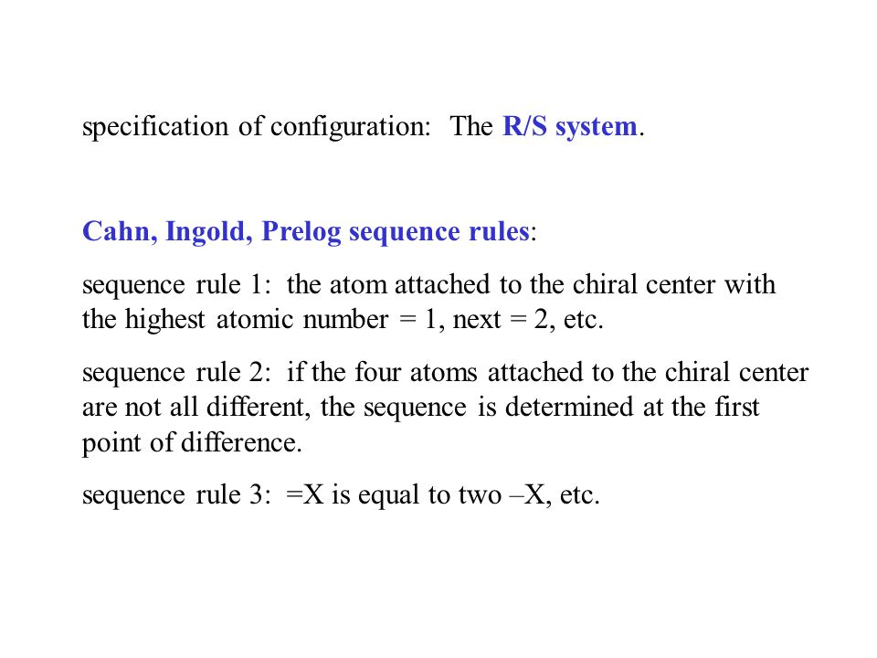 specification of configuration: The R/S system.