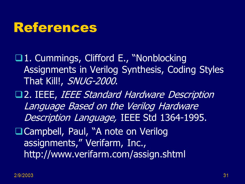2/9/200331 References  1.