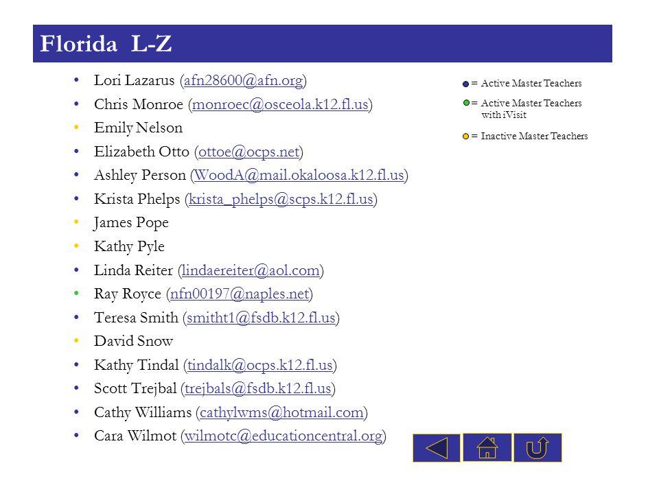 Lori Lazarus (afn28600@afn.org)afn28600@afn.org Chris Monroe (monroec@osceola.k12.fl.us)monroec@osceola.k12.fl.us Emily Nelson Elizabeth Otto (ottoe@o