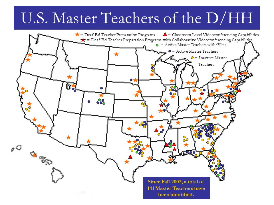 Amy Black (luvdeafed@hotmail.com)luvdeafed@hotmail.com Rita Grivich (mailto:radsg5@bellsouth.net)mailto:radsg5@bellsouth.net Tennessee = Active Master Teachers = Inactive Master Teachers with iVisit