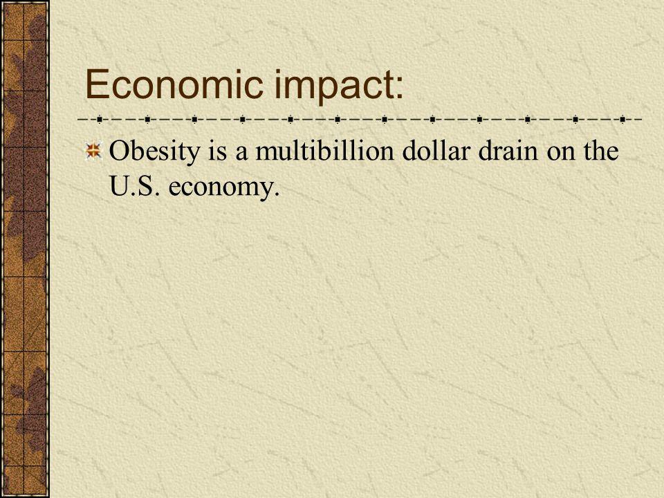 Economic impact: Obesity is a multibillion dollar drain on the U.S. economy.