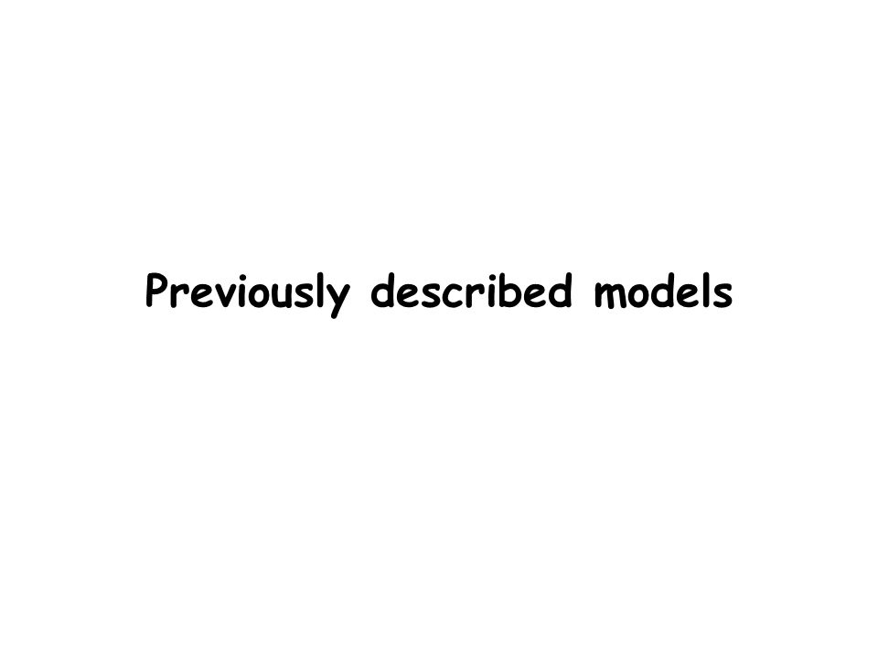 Previously described models