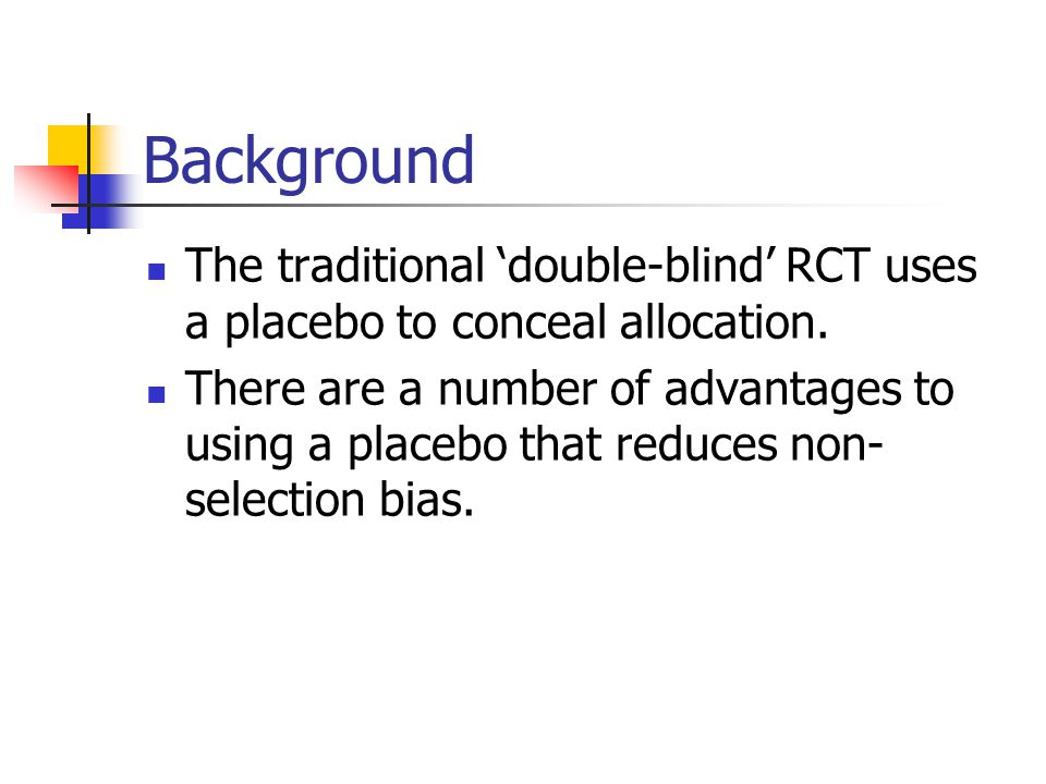 Trial retention To avoid bias it is CRUCIAL that after randomisation as many participants are retained within the trial as possible.