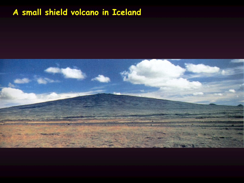 A small shield volcano in Iceland