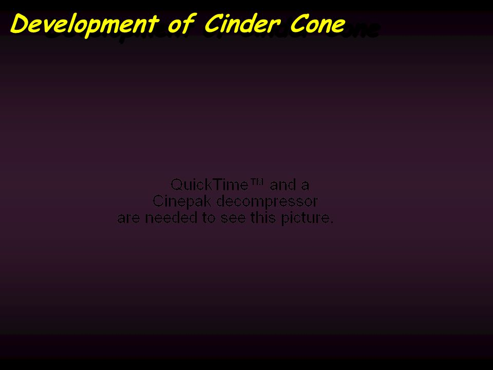 Development of Cinder Cone