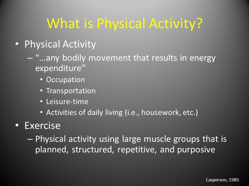What is Physical Activity.