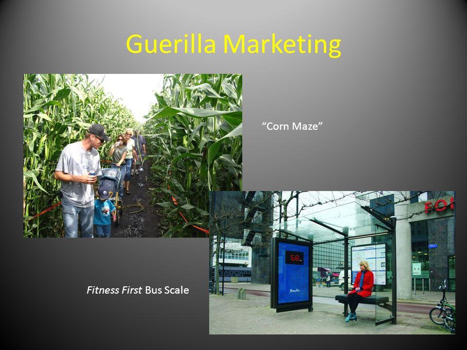 Guerilla Marketing Fitness First Bus Scale Corn Maze