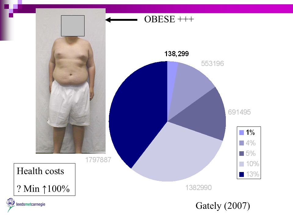 Gately (2007) OBESE +++ Health costs Min ↑100%