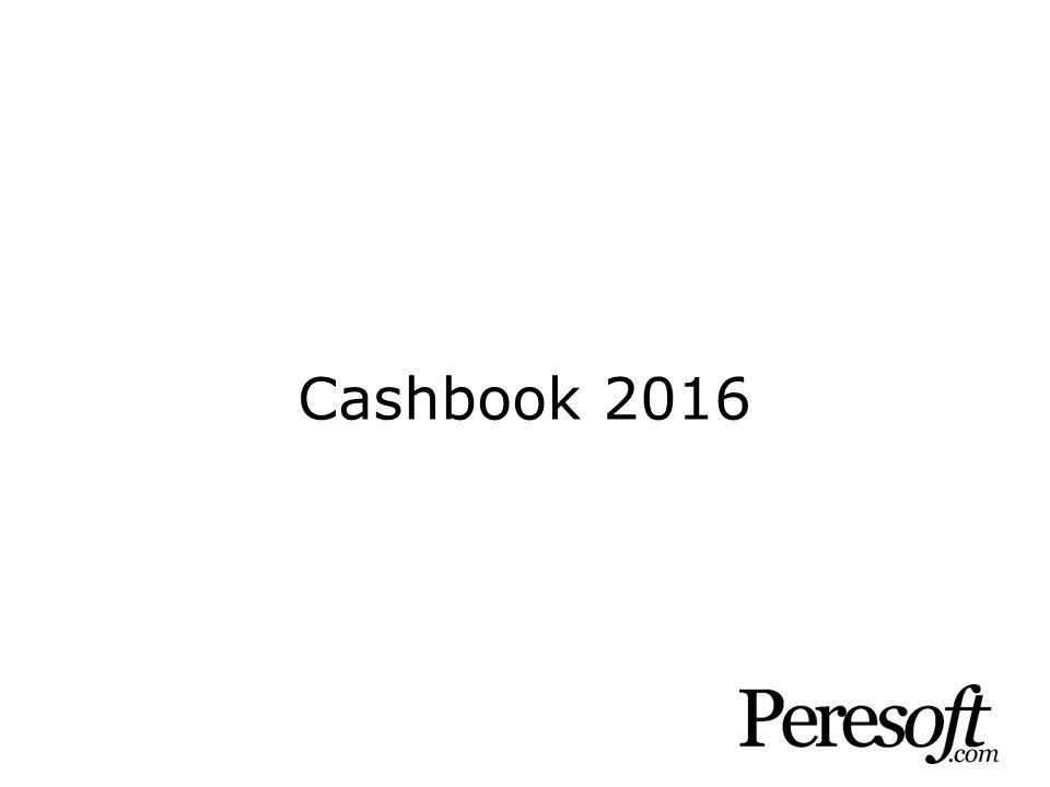 Cashbook 2016