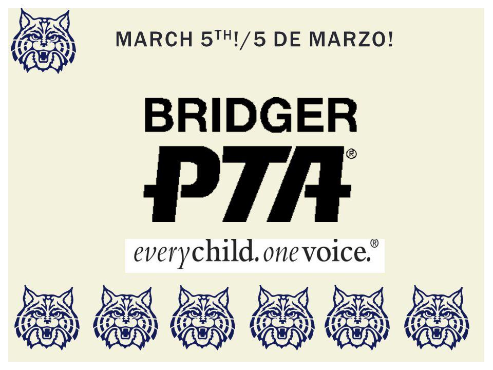 MARCH 5 TH !/5 DE MARZO!