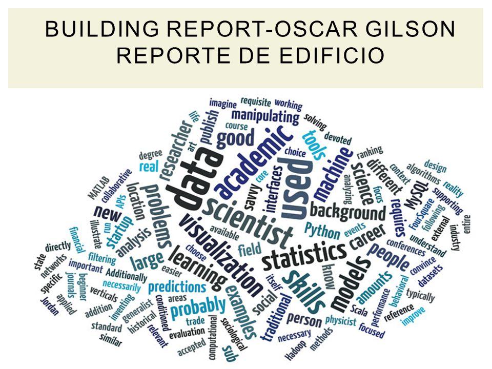 BUILDING REPORT-OSCAR GILSON REPORTE DE EDIFICIO