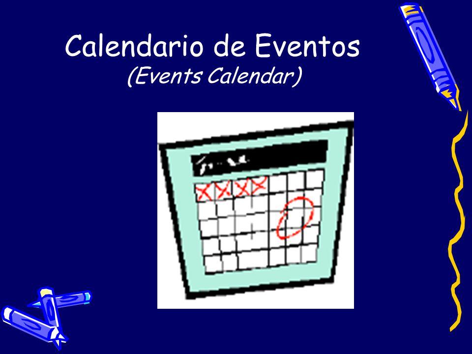 Calendario de Eventos (Events Calendar)