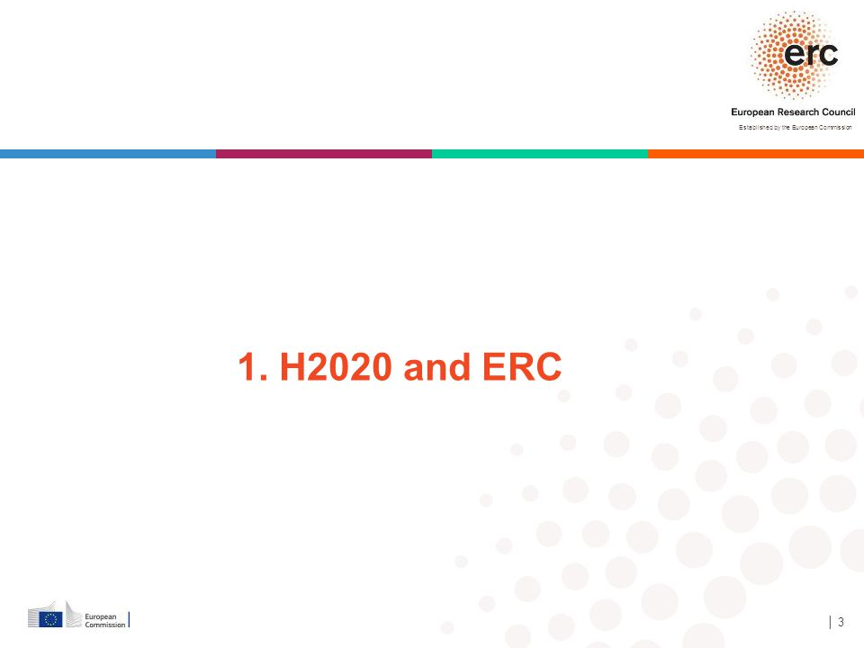Established by the European Commission │ 3 1. H2020 and ERC