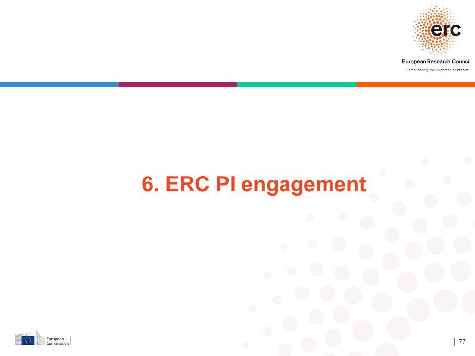 Established by the European Commission │ 77 6. ERC PI engagement