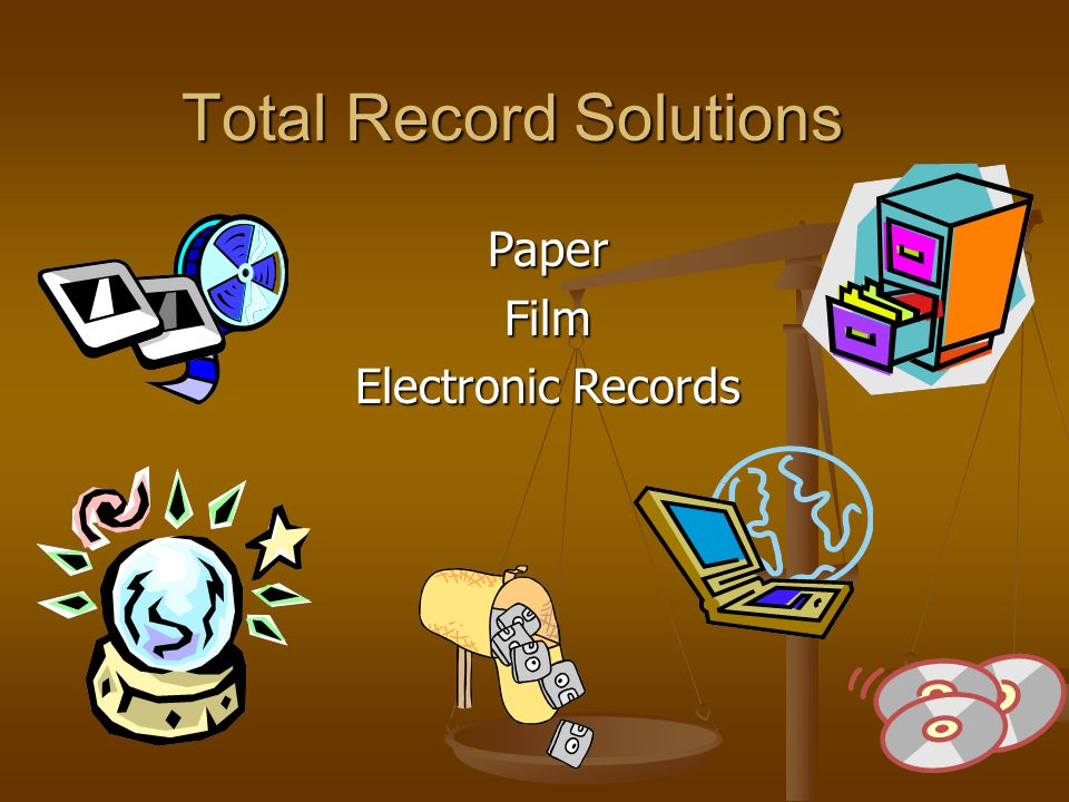 Total Record Solutions PaperFilm Electronic Records