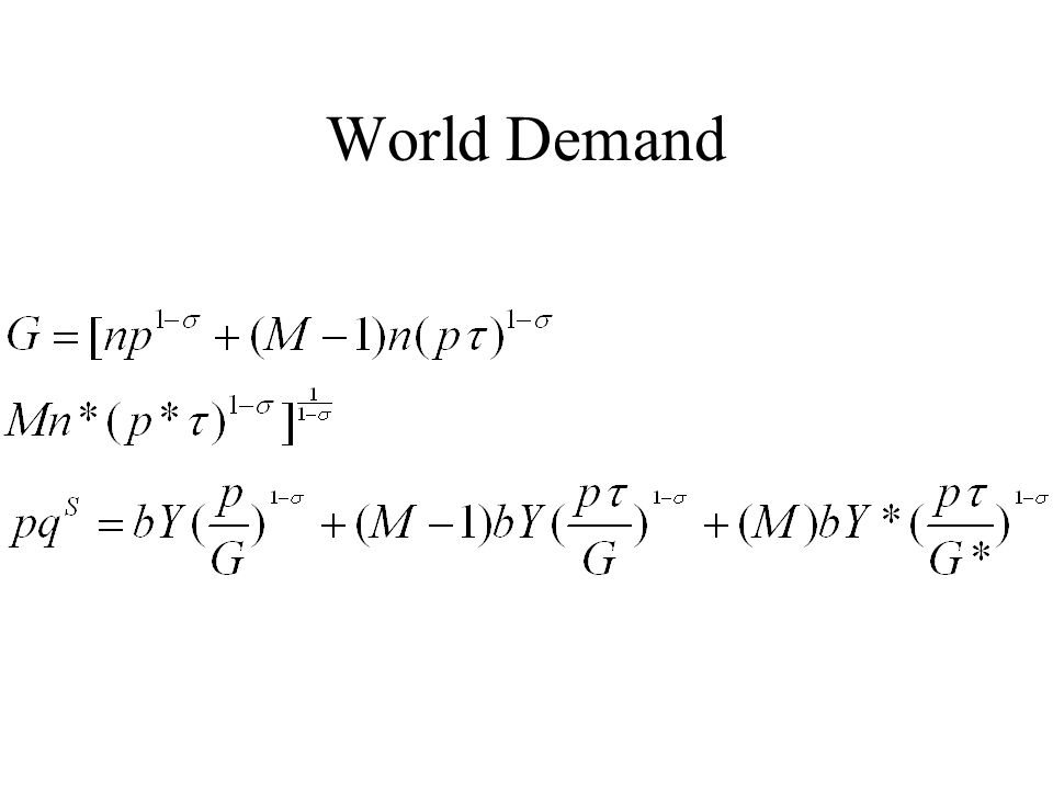 World Demand
