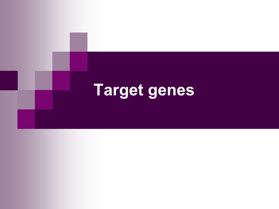 Target genes