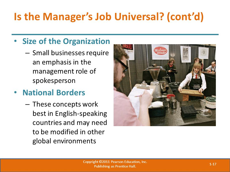 Is the Manager's Job Universal.
