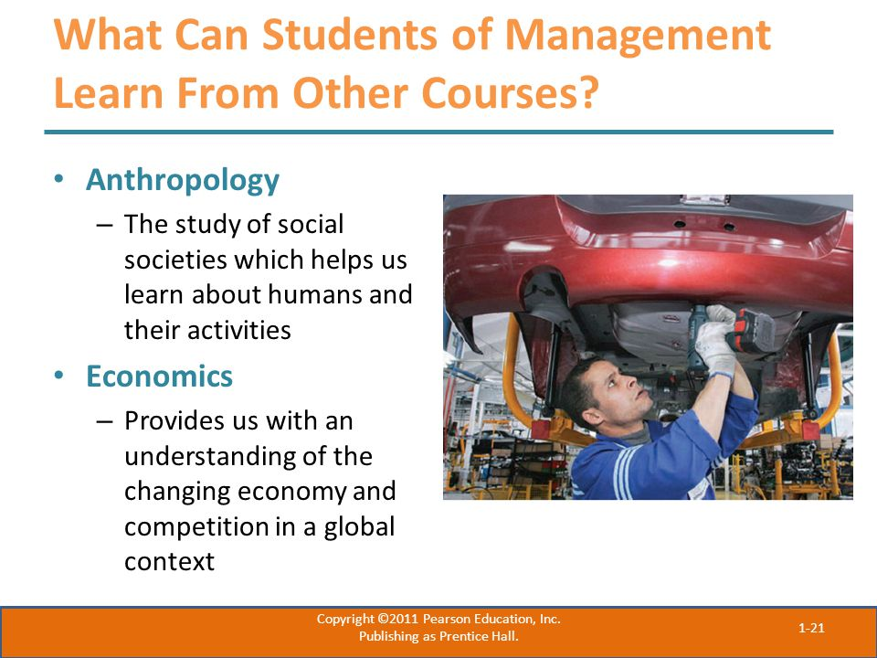 What Can Students of Management Learn From Other Courses.