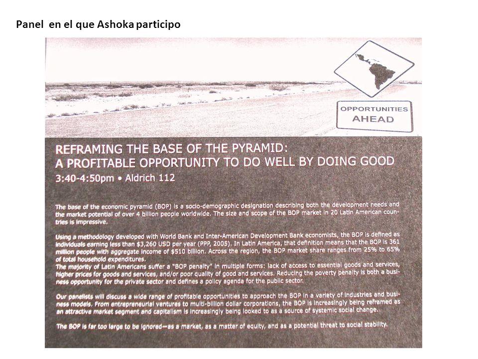 Panel en el que Ashoka participo