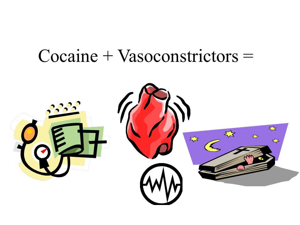 Cocaine + Vasoconstrictors =