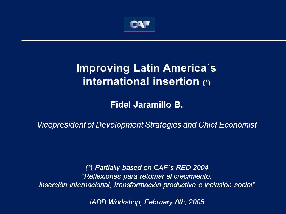 Improving Latin America´s international insertion (*) Fidel Jaramillo B.