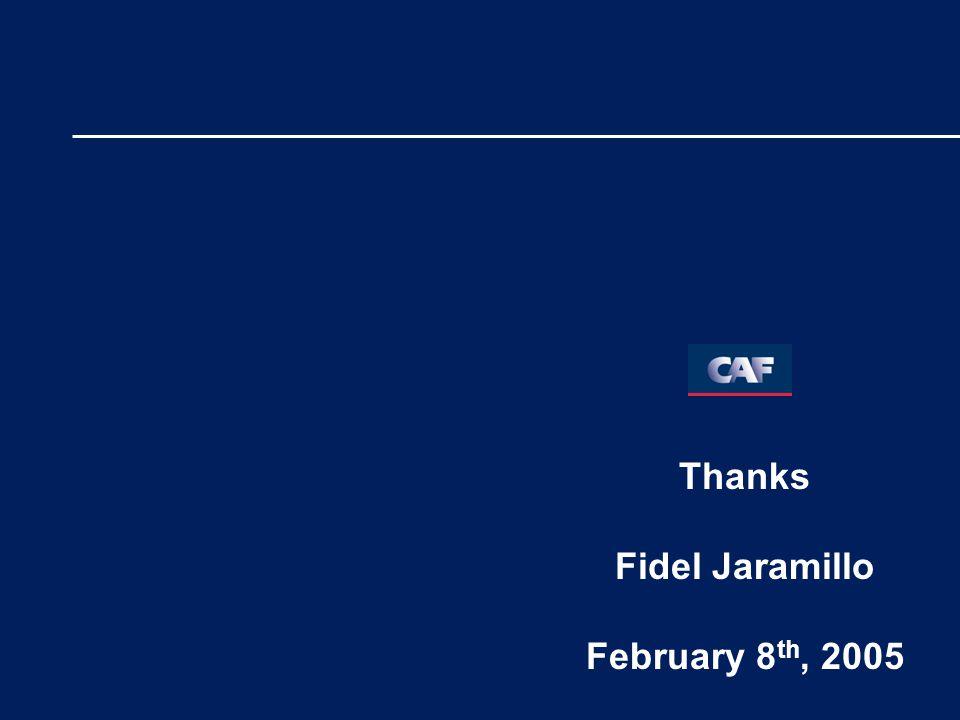 Thanks Fidel Jaramillo February 8 th, 2005