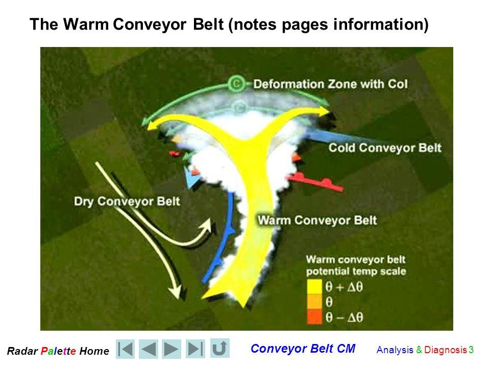 Radar Palet e Home Conveyor Belt CM Analysis & Diagnosis 4 The Poleward view along the warm conveyor belt