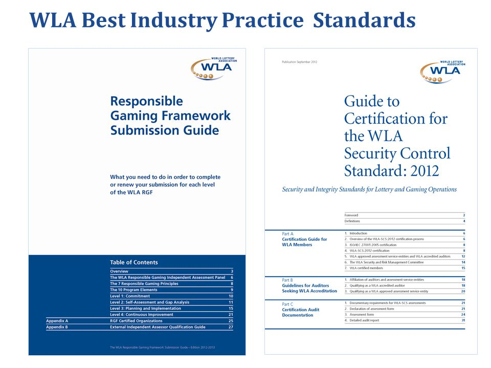 WLA Best Industry Practice Standards