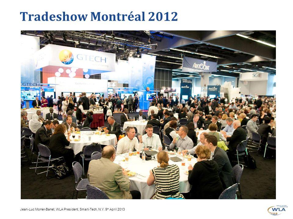 Jean-Luc Moner-Banet, WLA President, Smart-Tech, N.Y. 9 th April 2013 Tradeshow Montréal 2012