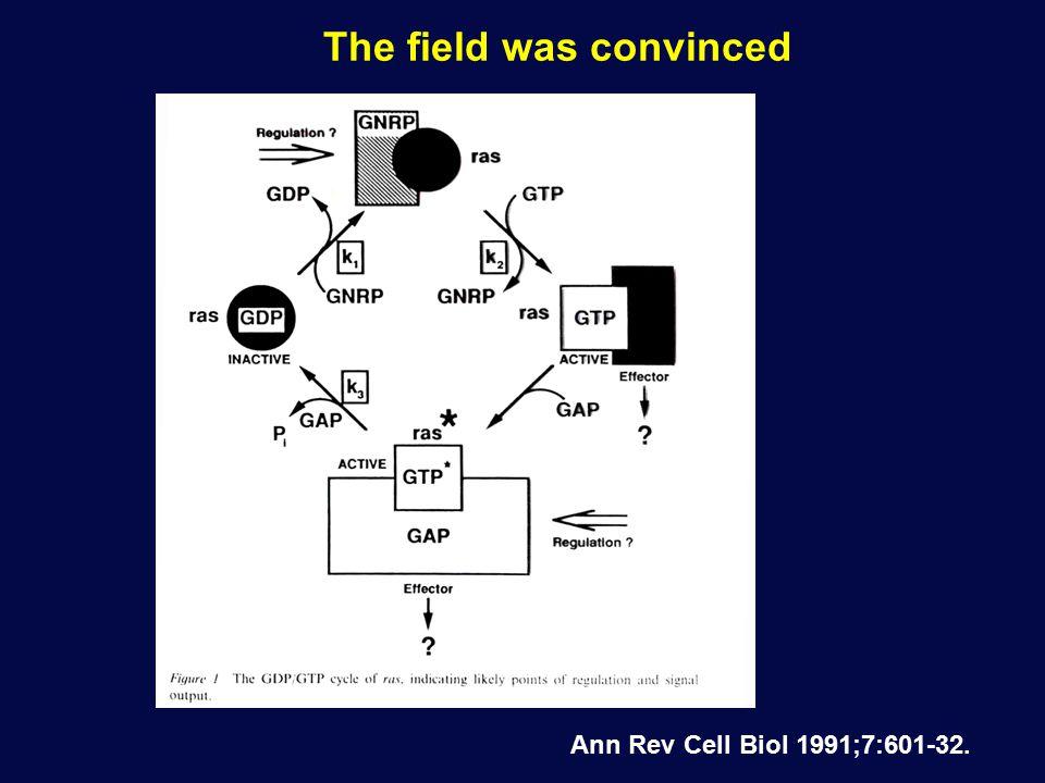 The field was convinced Ann Rev Cell Biol 1991;7:601-32.