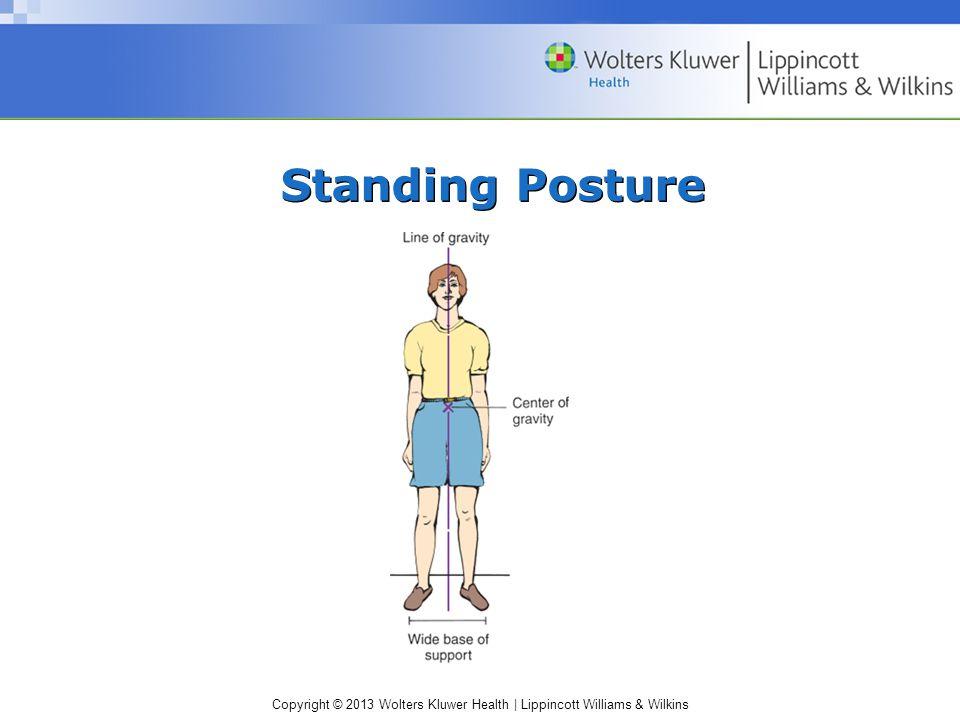 Copyright © 2013 Wolters Kluwer Health | Lippincott Williams & Wilkins Standing Posture