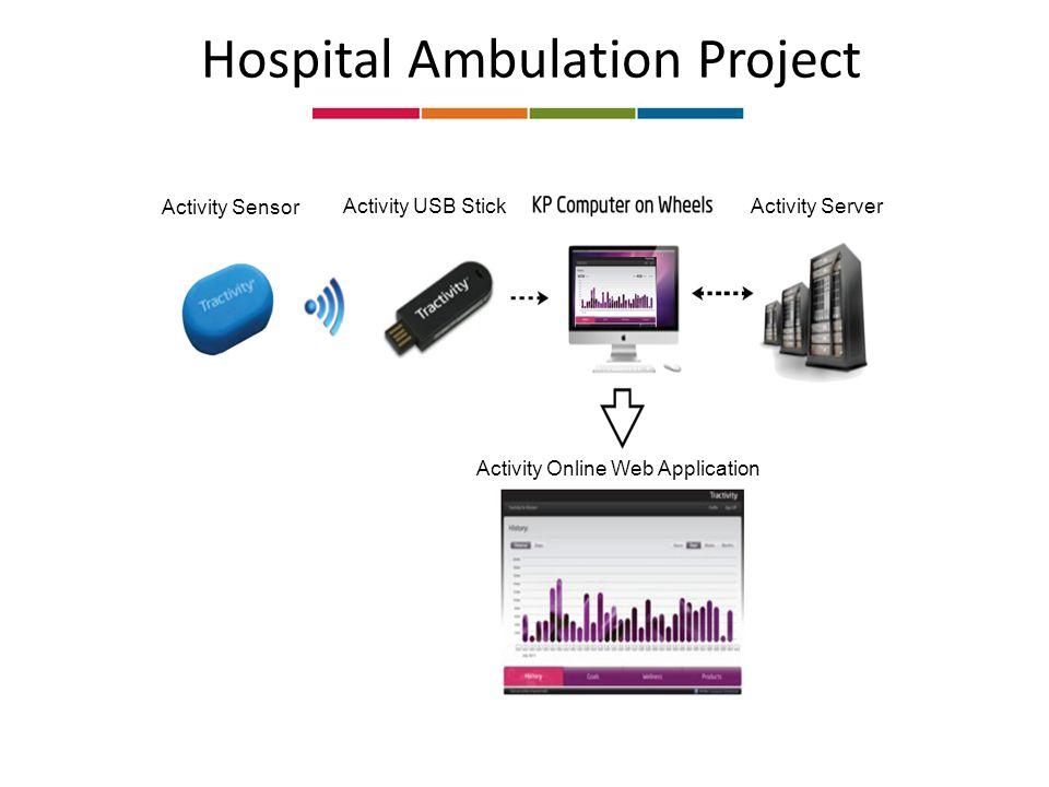 Hospital Ambulation Project Activity Sensor Activity USB StickActivity Server Activity Online Web Application
