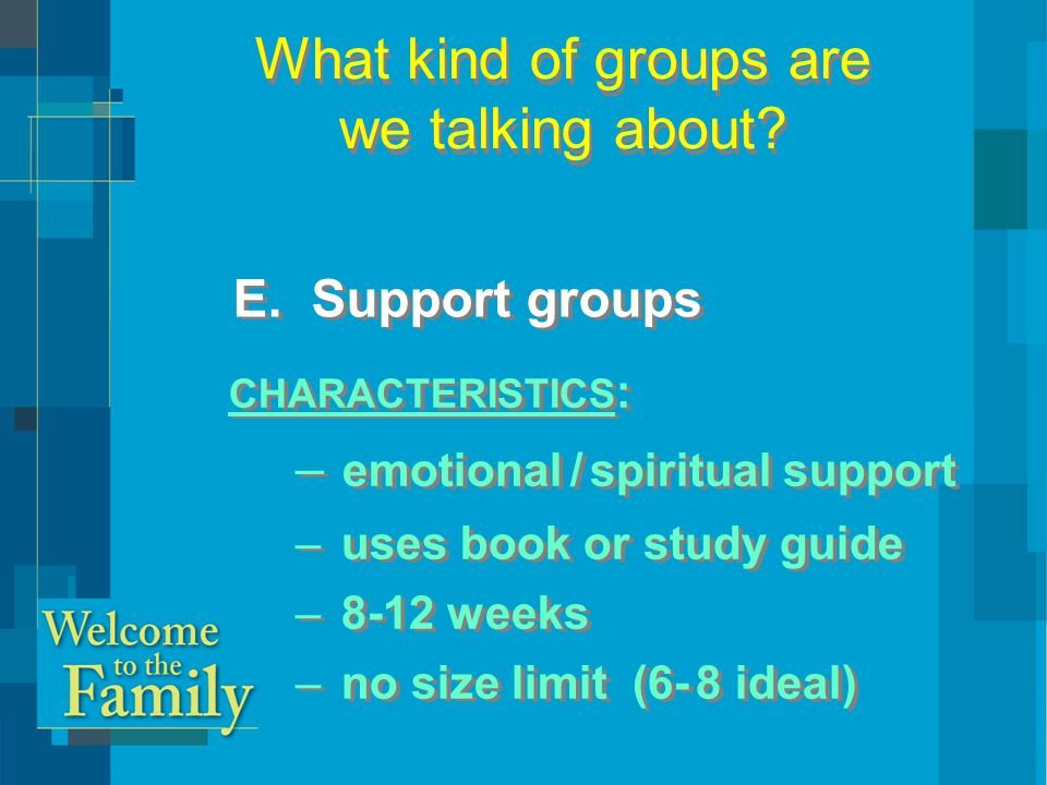 How Small Groups Can Be Part of Your Assimilation Strategy  Increase the number of your groups.