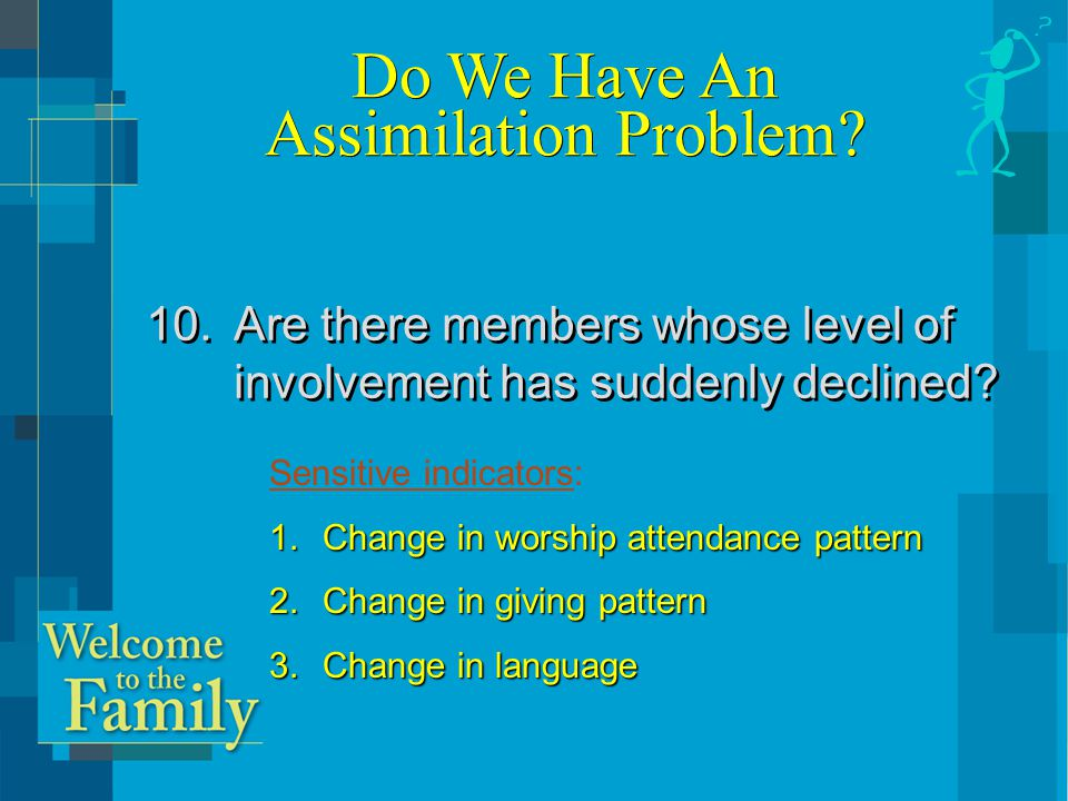 Discussion Question: What issues come to mind–for your church–from this morning ' s sessions?
