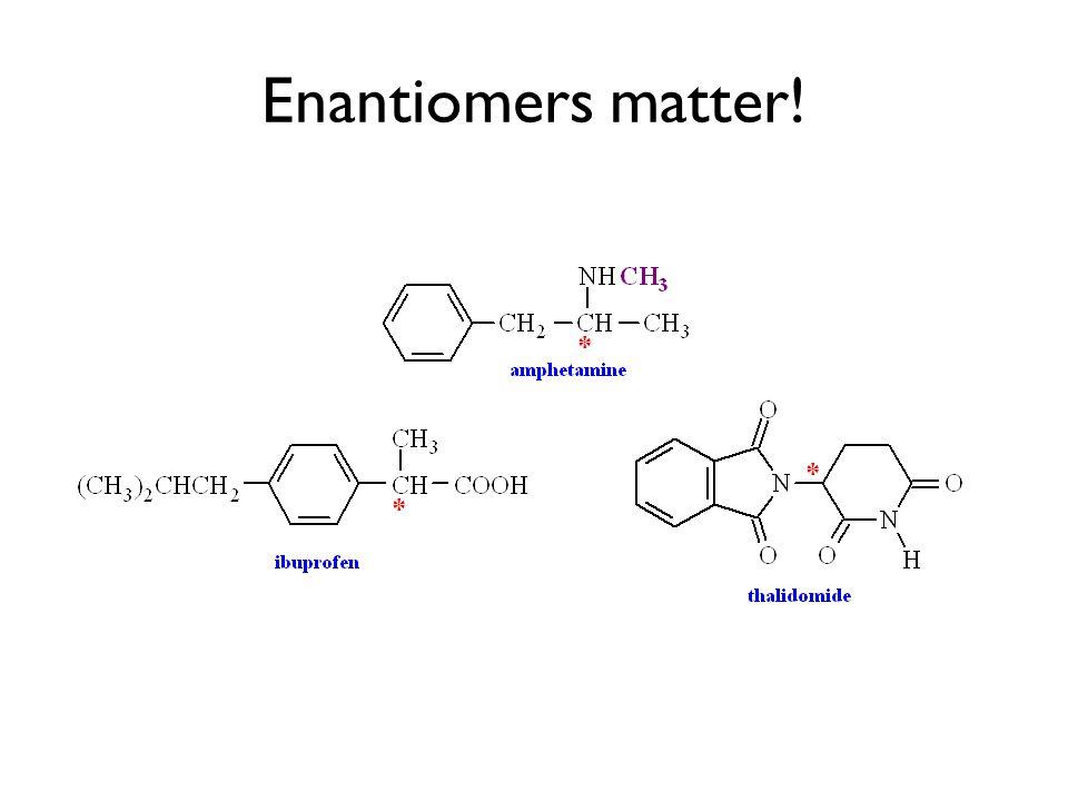 * * Enantiomers matter! *