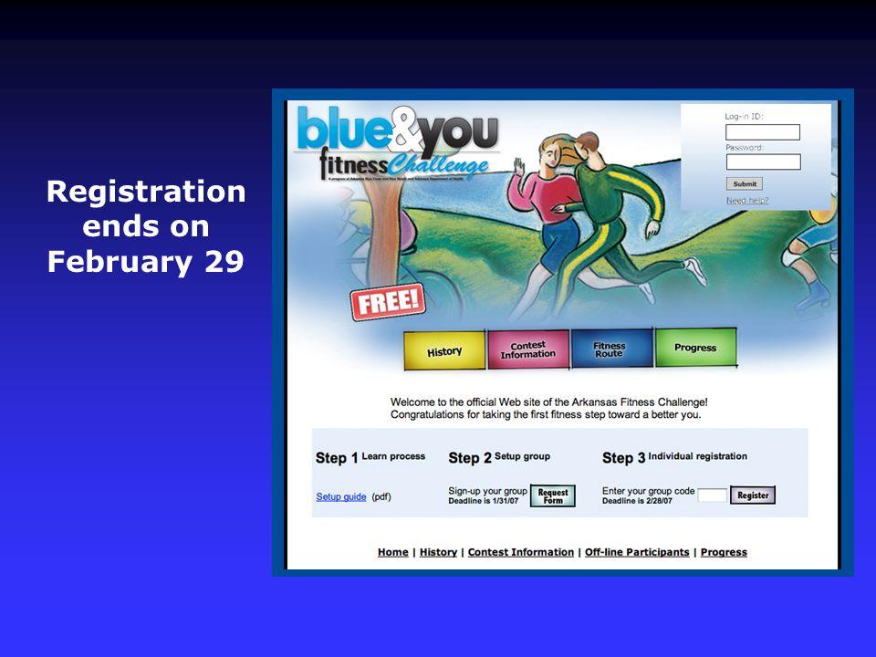 Registration ends on February 29