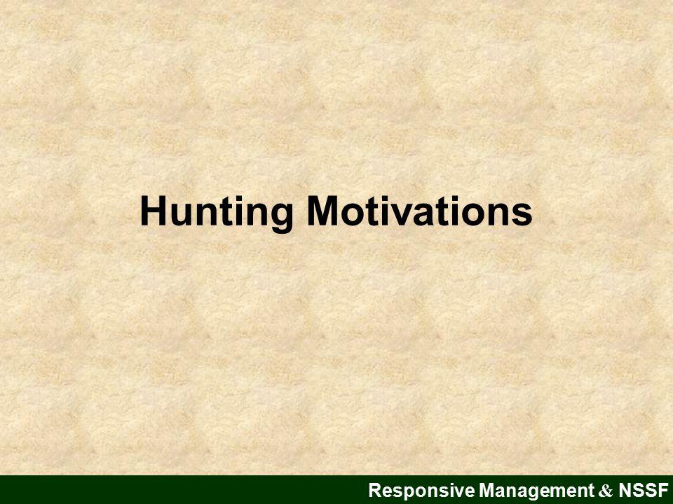 Hunting Motivations