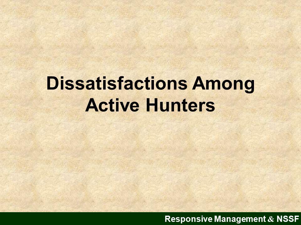 Dissatisfactions Among Active Hunters