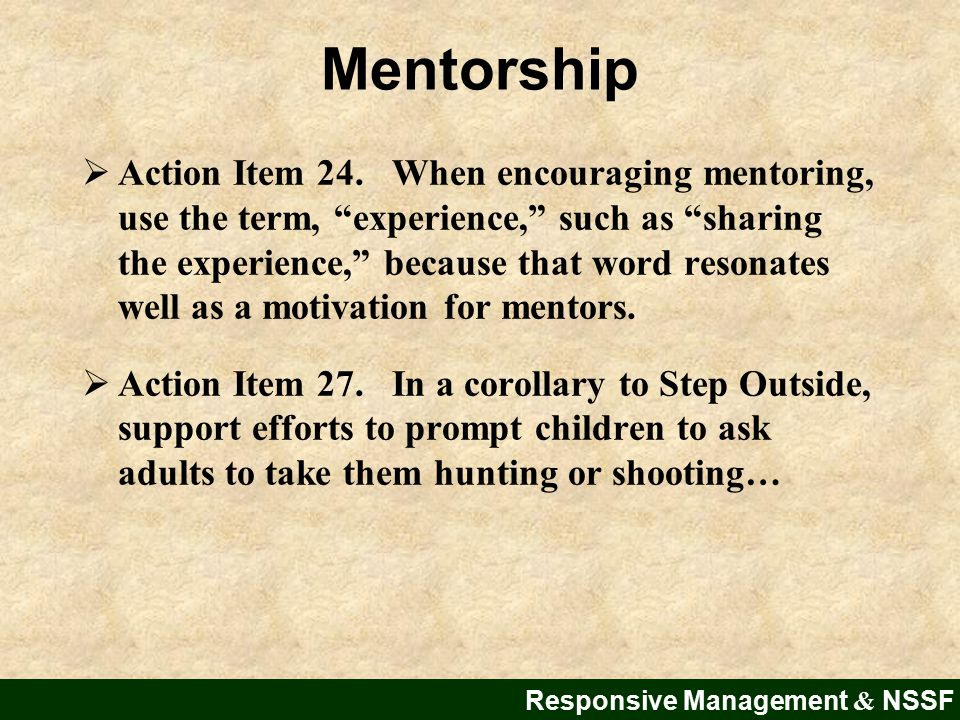 Mentorship  Action Item 24.